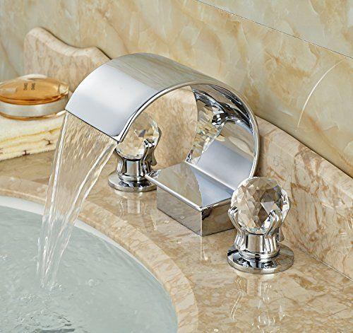 Bathroom Faucets Diy Rozin Double Crystal Handles Bathtub Faucet