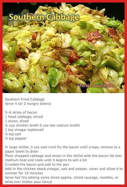 Photo of Omit the Southern Fried Cabbage broth. Instead 1 t ACV & 2 t Worcestershire …