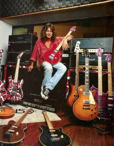 Eddie Van Halen And Some Guitars Ha