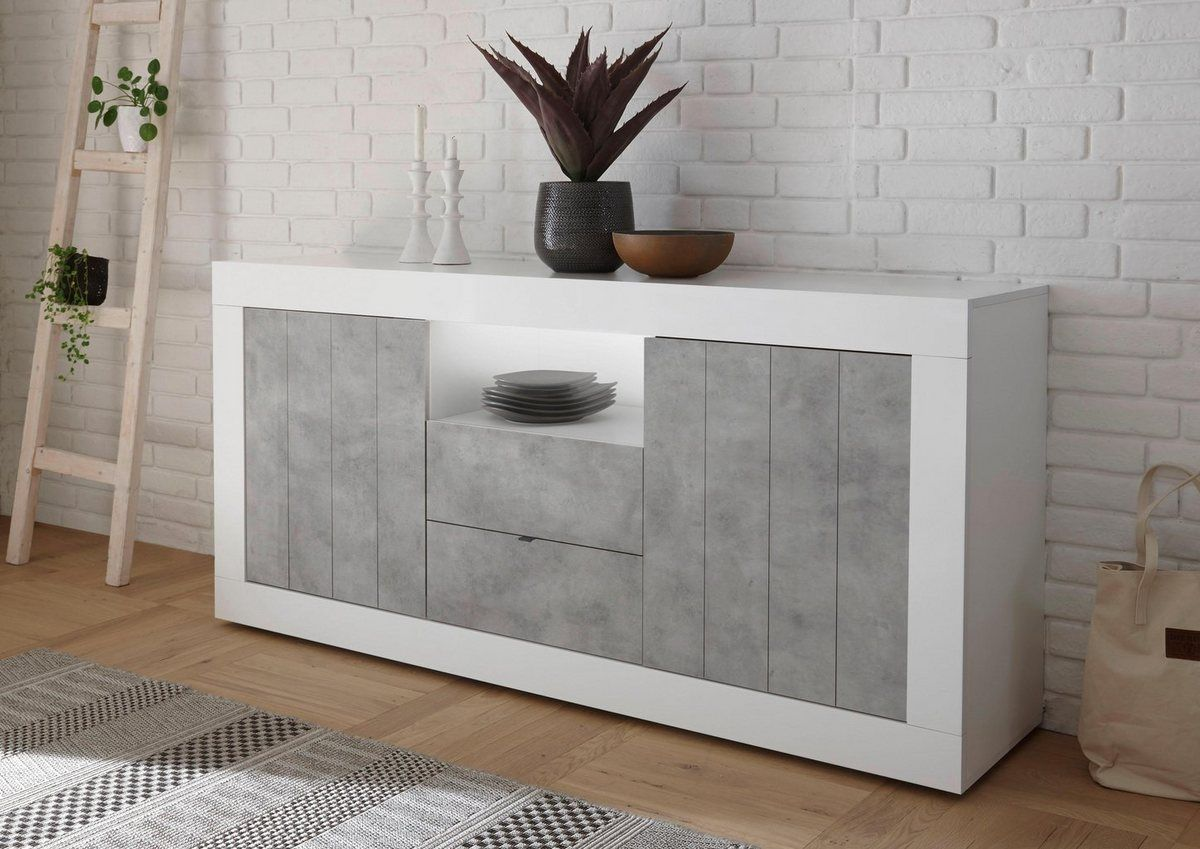 Sideboard »Urbino«, Breite 184 cm | Anrichte weiß, Sideboard ...
