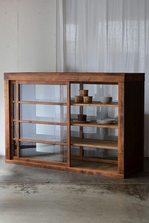 両面引き戸の食器棚 Truck 家具 インテリア 家具 装飾のアイデア