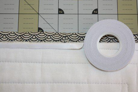 wash away tape to hold down binding