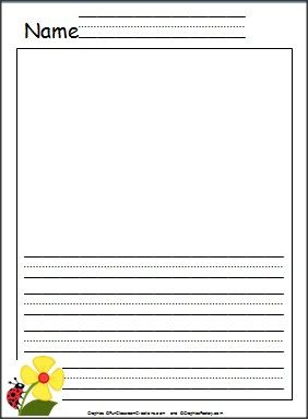 free writing template