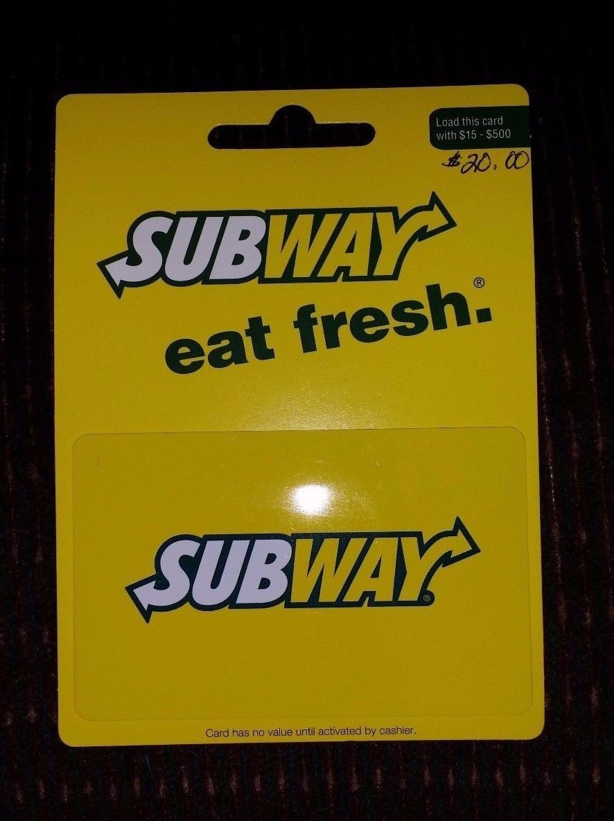 Coupons giftcards 2000 subway gift card fast free
