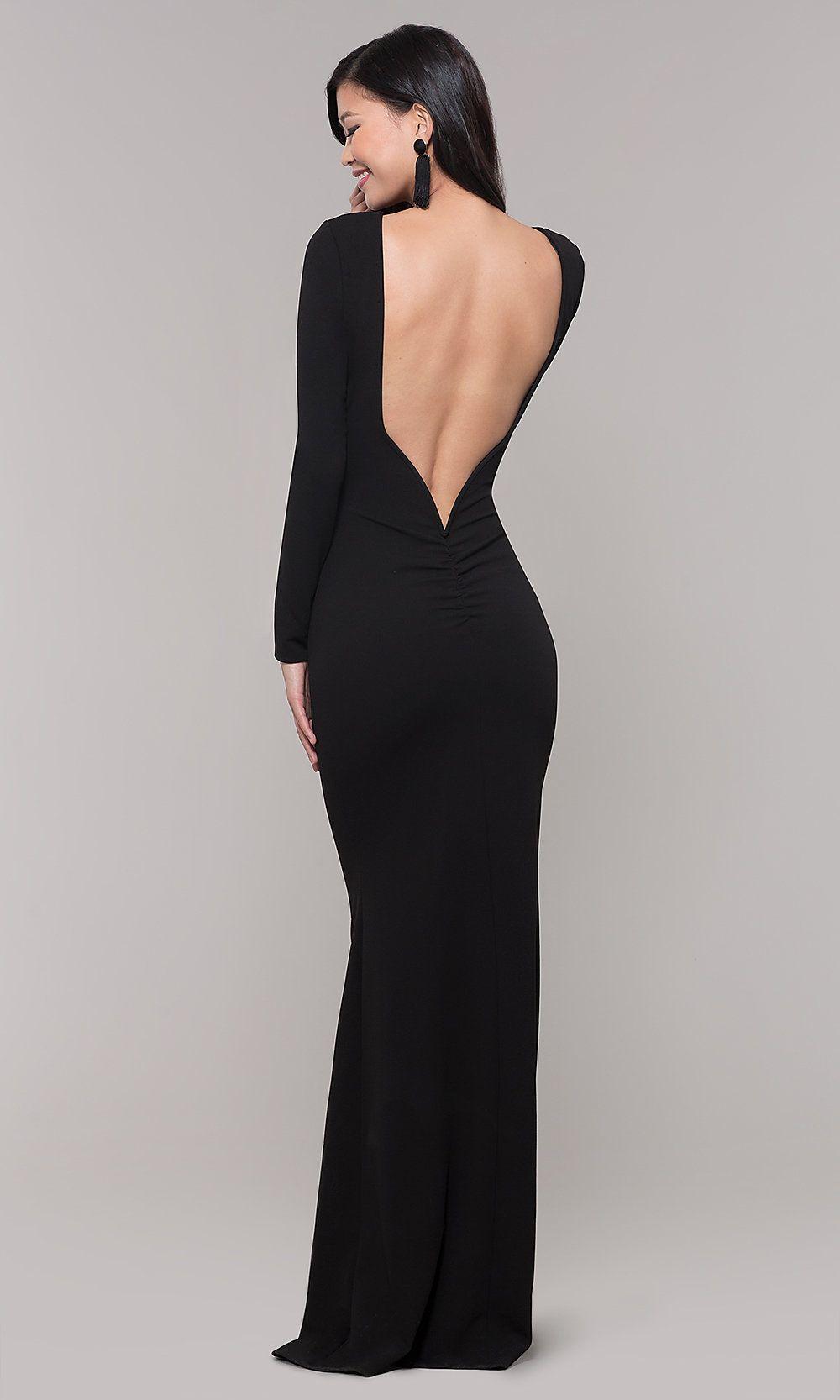 34++ Long sleeve low back dress ideas