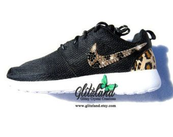 Nike Flyknit Roshe Exécuter Talons Noirs  / Turquoise
