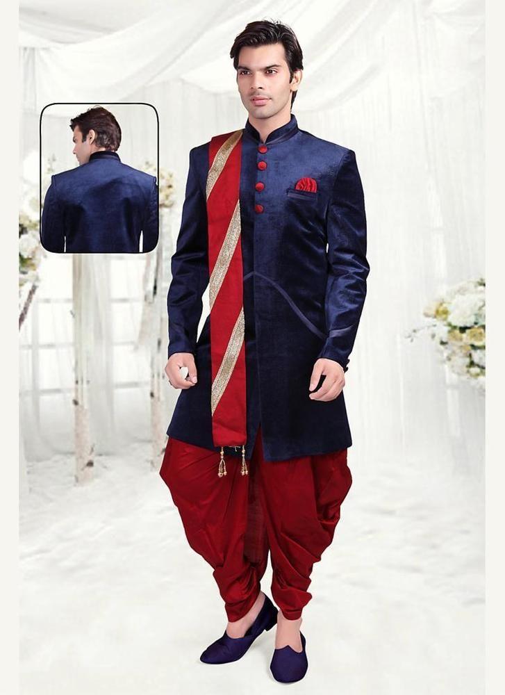 Mens Burgandy Ethnic Wedding Shoes MJ0134