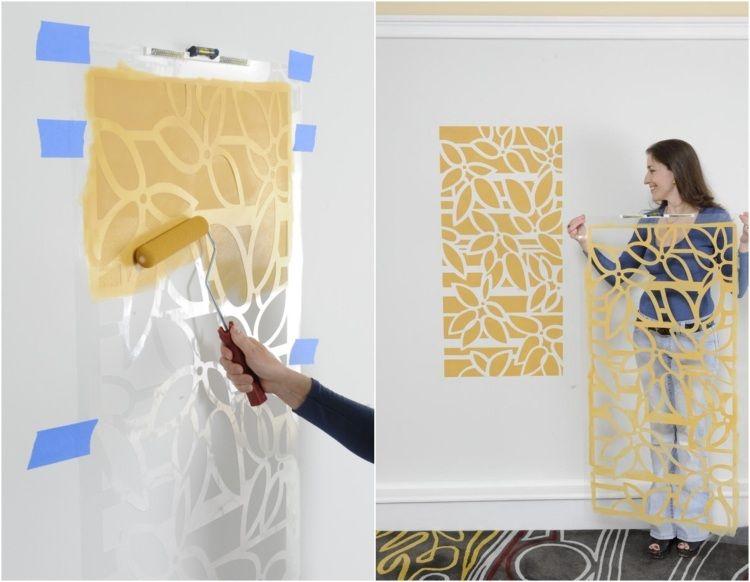 Muster an der Wand mit Farbe und Schablone schnell erstellen | Paint ...