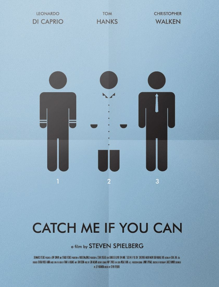 Catch Me If You Can 2002 Minimal Movie Poster By Arianna Savi Vias
