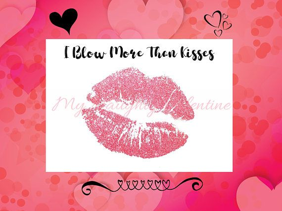 Blow More Than Kisses, Printable Naughty Card, Dirty Card ...