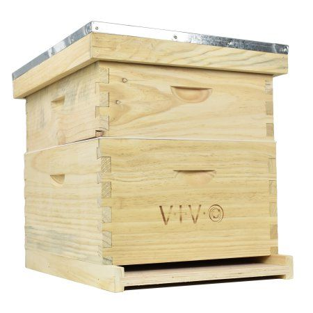 Complete Beekeeping 20 Frame Beehive Box Kit 10 Medium 10 Deep Langstroth Bee Hive From Vivo Bee Hv01 Walmart Com Beekeeping Starter Kit Bee Keeping Bee Hive