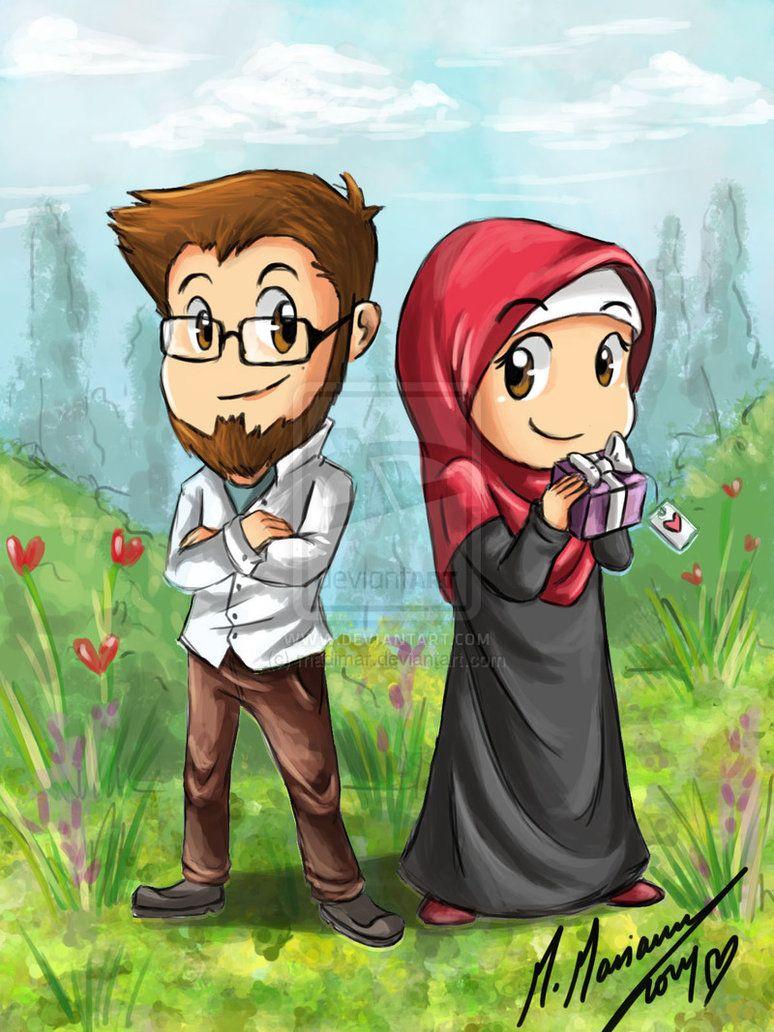 Something For U 3 N N By Madimar On Deviantart Anime Muslimah Cute Muslim Couples Islamic Cartoon