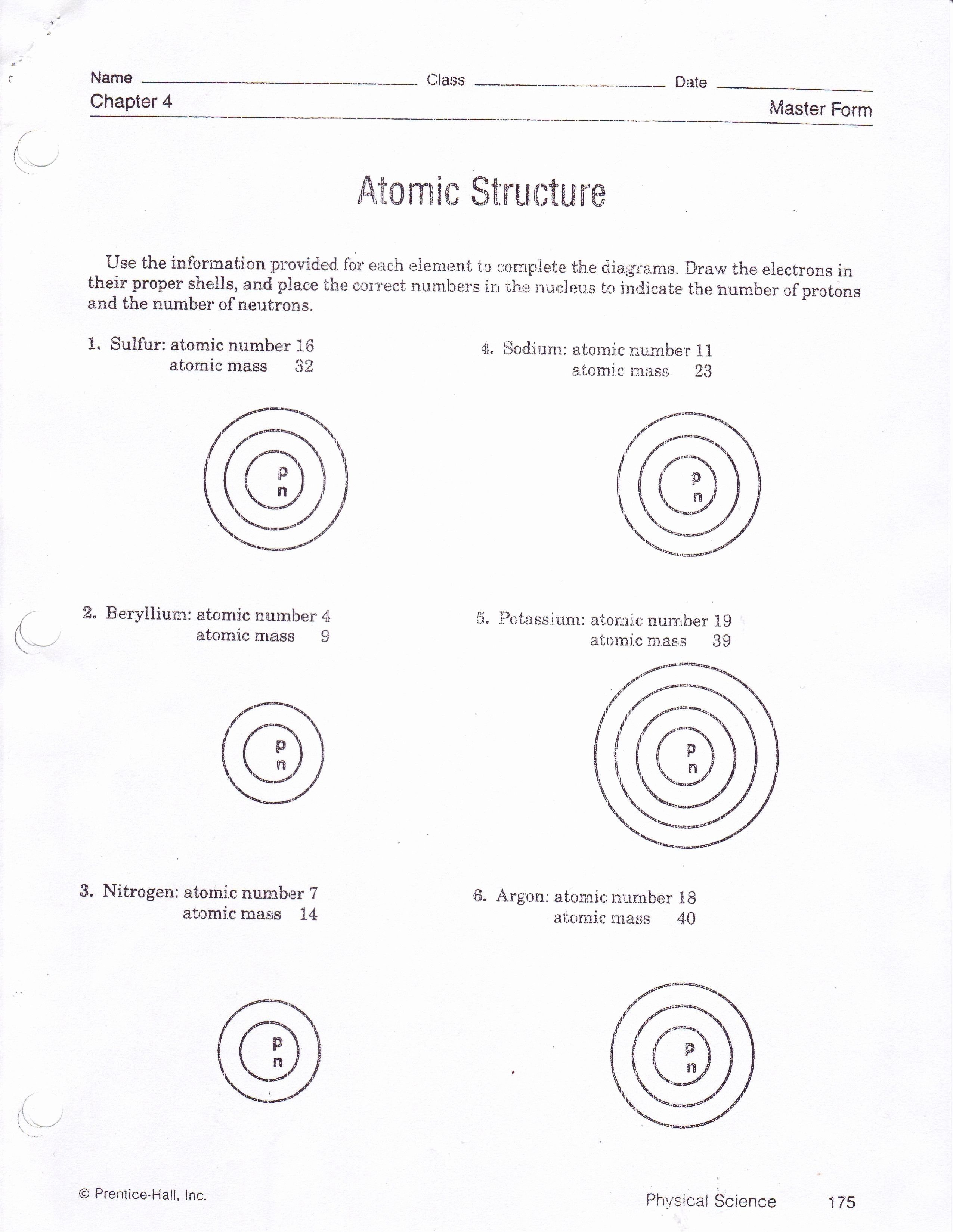 Atomic Model Worksheet Awesome Integratedsciencei