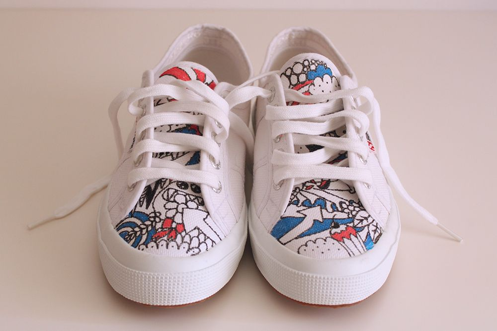 Hand Painted Custom Superga by Happy Marker | Custom shoes