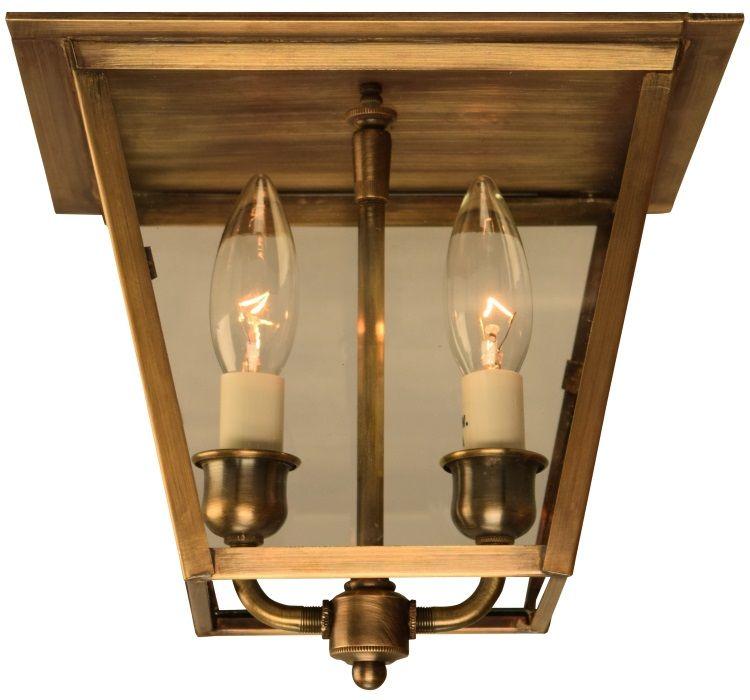carolina colonial flush mount copper ceiling light patio lighting