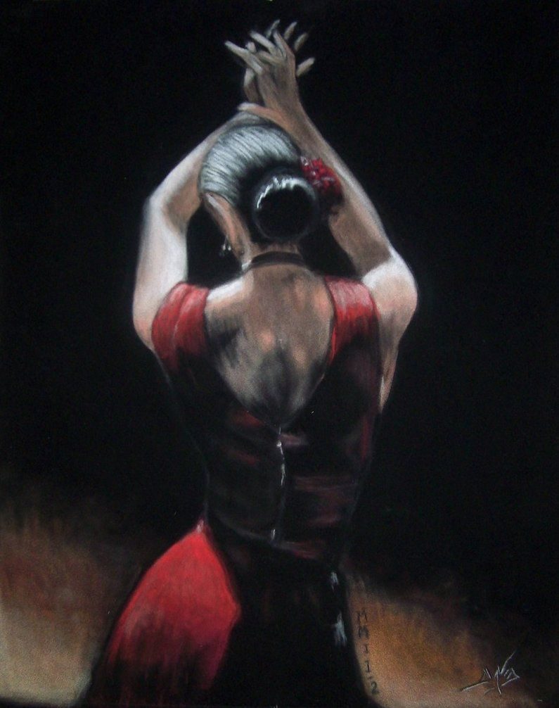 #Flamenco Dancer. Ilustración para la flamencoterapia