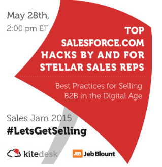 If you aspire to crush your sales quota in 2015, but find yourself wasting precious time and attention drowning in data and juggling an incredible number of sales tools and technologies, look no further.  We've gathered some of America's top quota-crushing sales practitioners and influential Salesforce.com experts to share proven plays for attaining quota and generating revenue.. Know your industries hashtags and your also competitors...