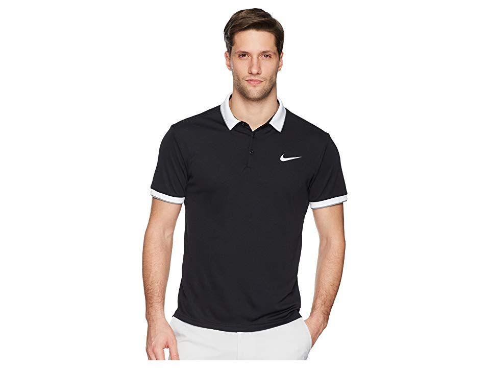 d4459901a Nike Court Dry Tennis Polo (Black/White/Cool Grey/White 1) Men's ...