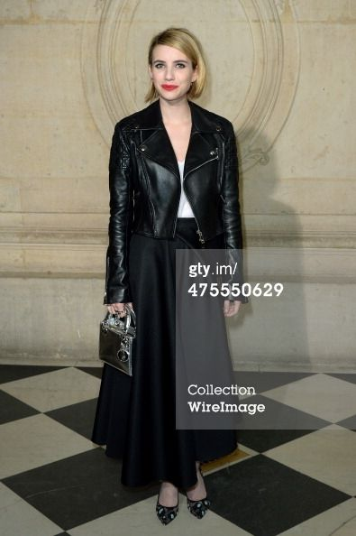 Actress Emma Roberts attends the Christian Dior show…