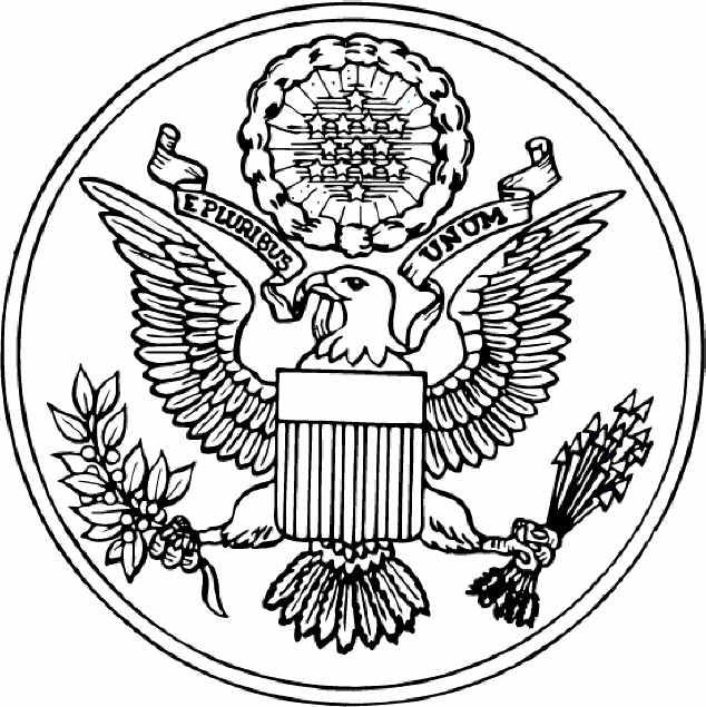 The Seal Of The United States Of America Free Printable Coloring