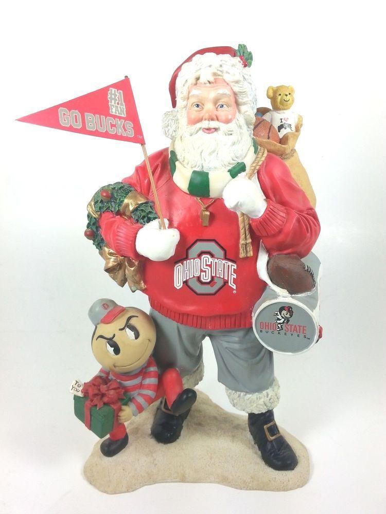 9b241df40 Ohio State Buckeyes Santa Claus & Brutus NCAA Football Danbury Mint  #DanburyMint