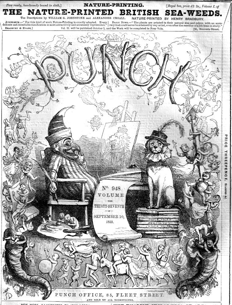 "Front cover of ""Punch"" by Richard Doyle Punch and judy"