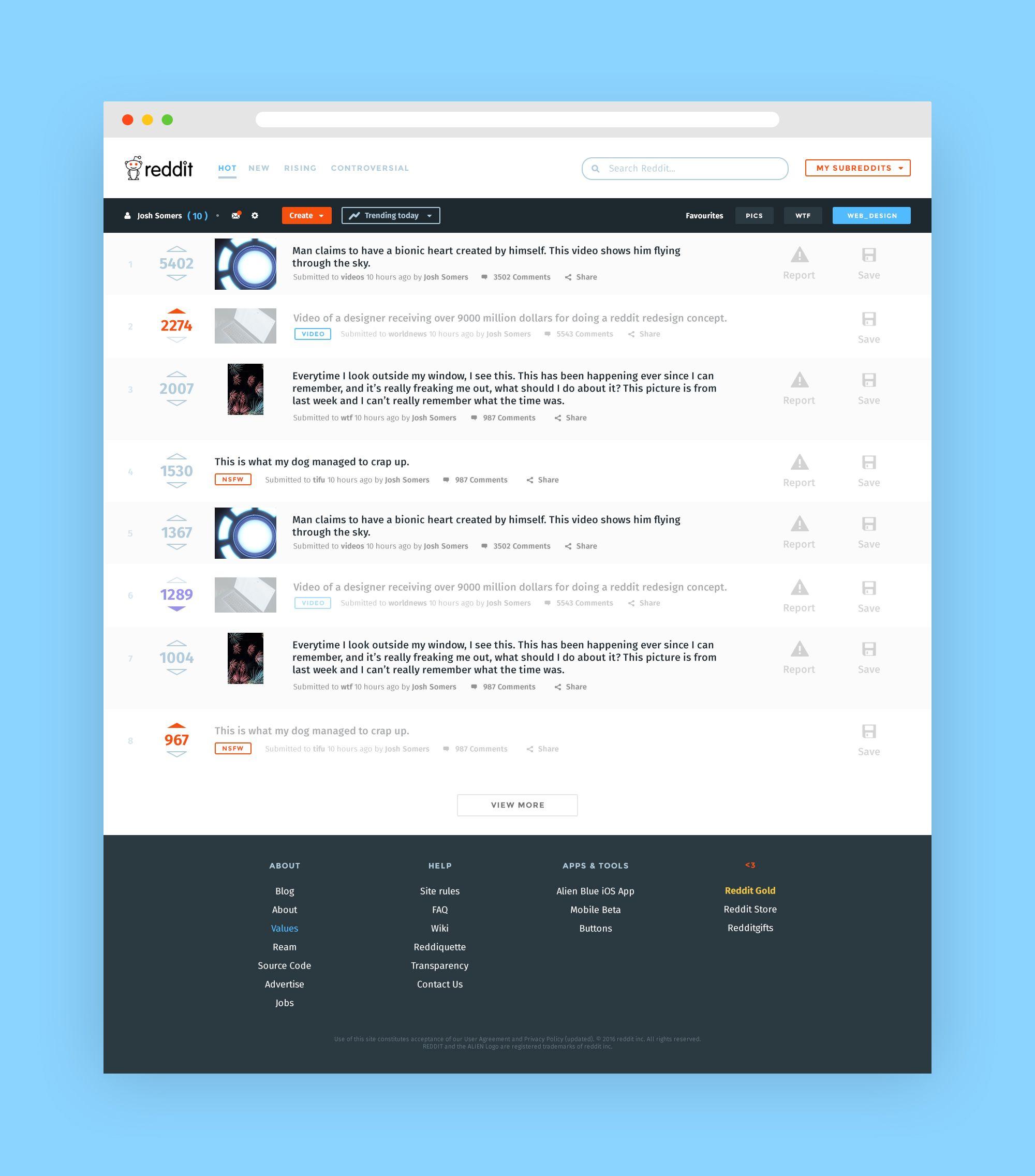 Reddit redesign Redesign, Web design, Reddit