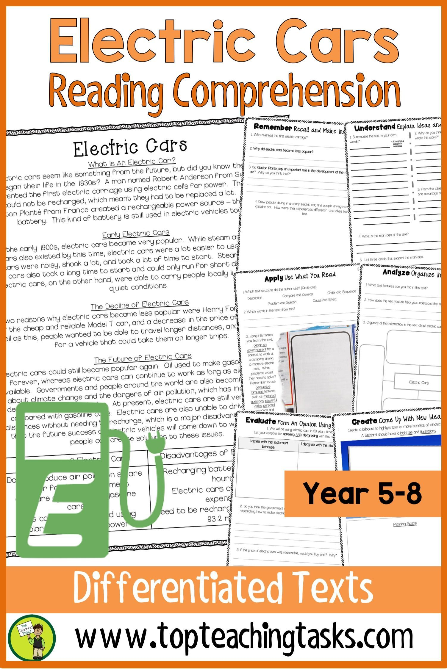 Electric Cars Reading Comprehension Passages And Questions Reading Comprehension Reading Comprehension Passages Comprehension Passage [ 2249 x 1502 Pixel ]