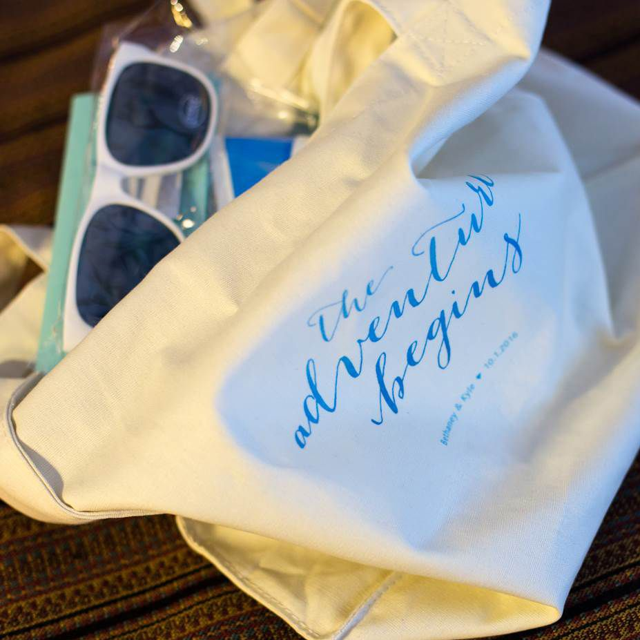 Gift Basket For Bride And Groom Wedding Night: Personalized Reusable Canvas Tote Wedding Gift Bags