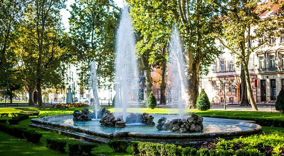 Park Zrinjevac Is Located In The Center Of Zagreb Despite This This Park Provides A Real Vacation From The Busy Town Crowd And It Fountains Vacation Outdoor