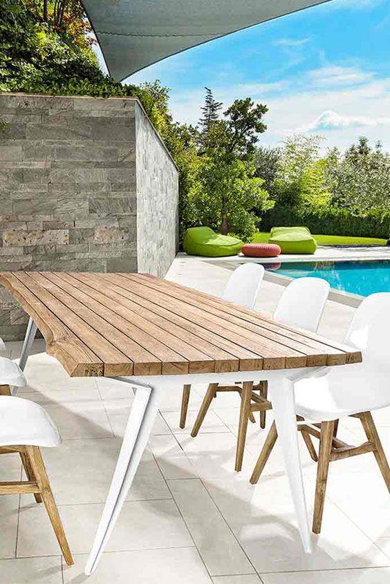 Nice Bizzotto Stapelstuhl wei Stapelstuhl mit Teakholz Gestell Gro e Auswahl an modernen Gartenst hlen bei