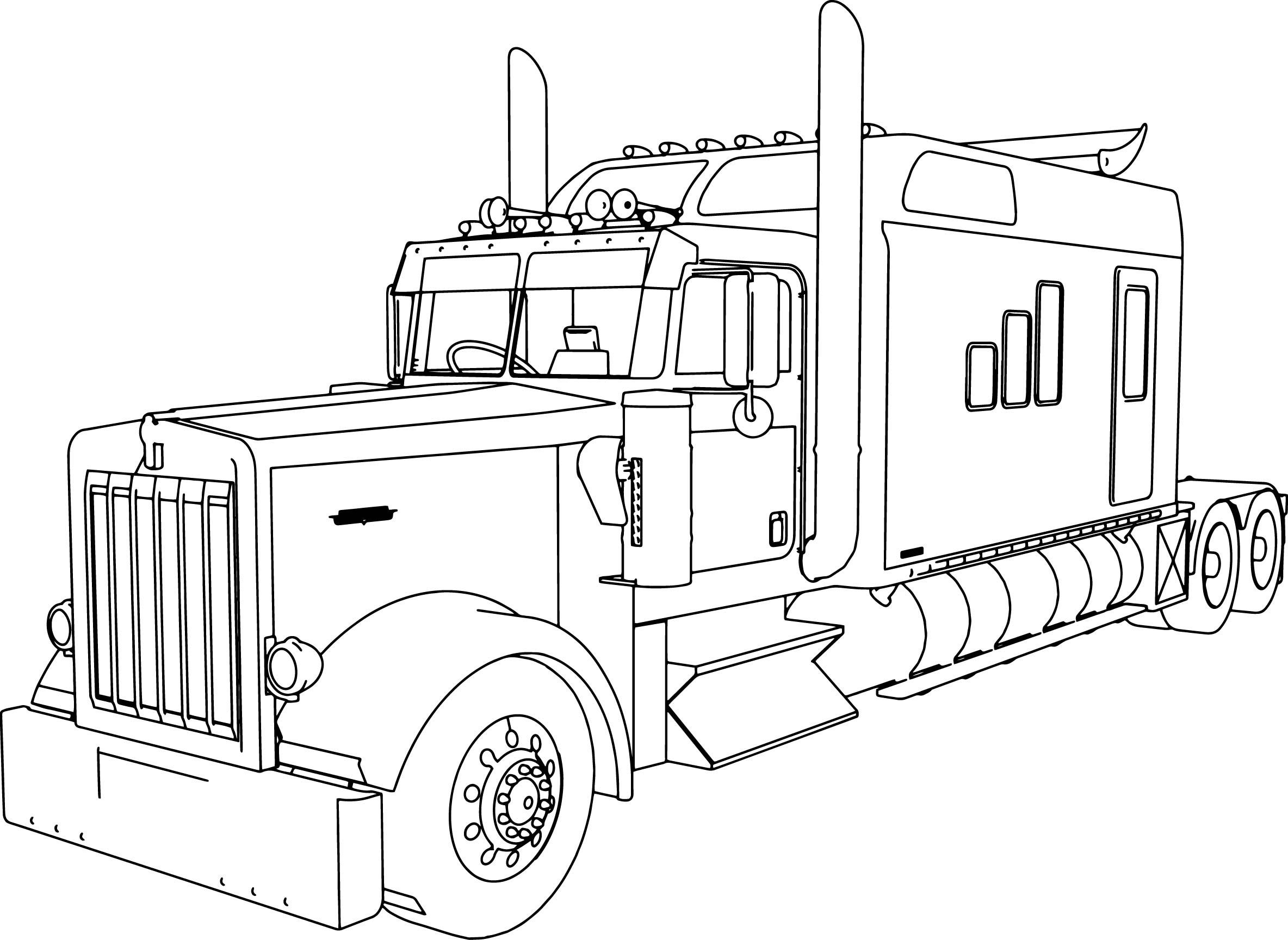 Semi Truck Coloring Pages Truck Coloring Pages Monster Truck