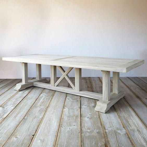 Protected Teak Country Dining Table Terrain Woodworkingtable
