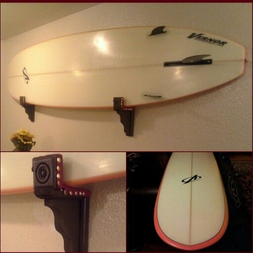 diy surfboard wall rack you can find everything you need in your craft store and
