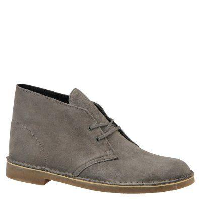 clarks men's bushacre 2 boot shoes  grey suede  115