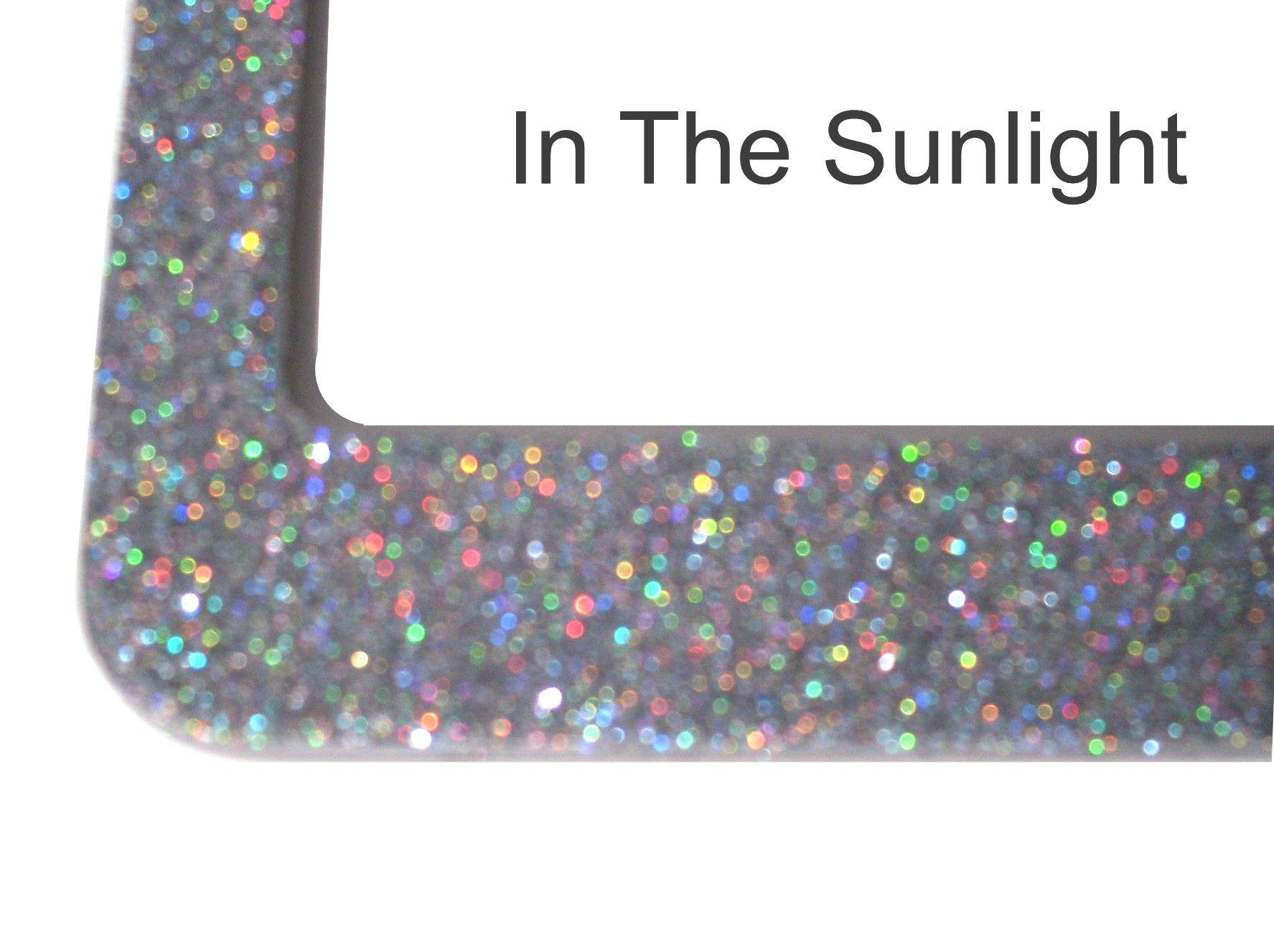 SOLID BLING glitter license plate frame sparkle sparkly sparkley ...