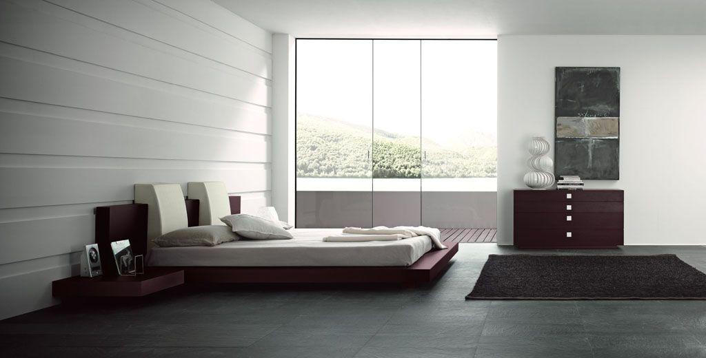 sliding glass door - Maroon Bedroom Design