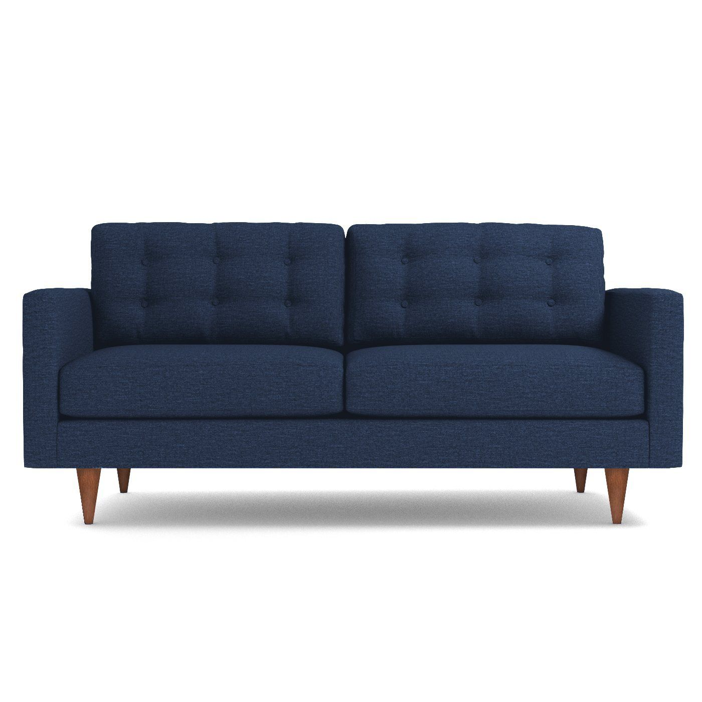 Logan Apartment Size Sofa Leg Finish Pecan Size Apartment
