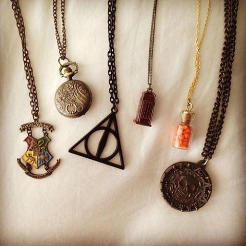 Harry Potter Percy Jackson And Pirates Of The Caribbean 3 Accesorios Joyas Collares