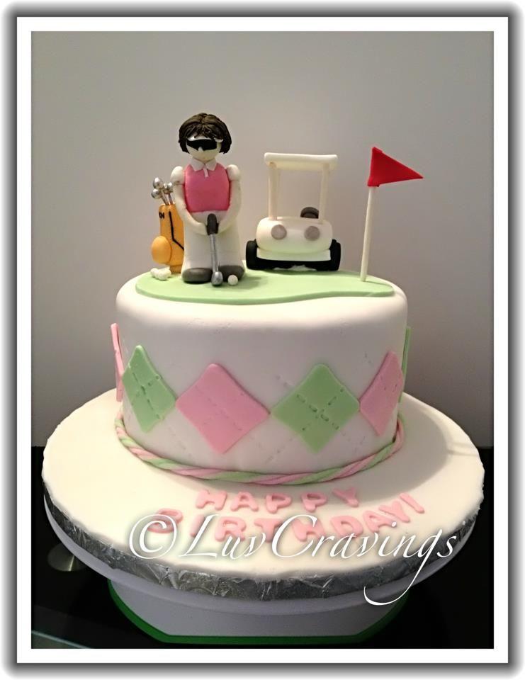 Golf themed Cake Vancouver LuvCravings cake fondant dessert