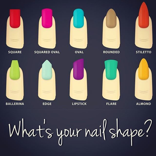 Best Nail Shape Chart I Have Seen Cur Fave Is Almond But Definitely Need