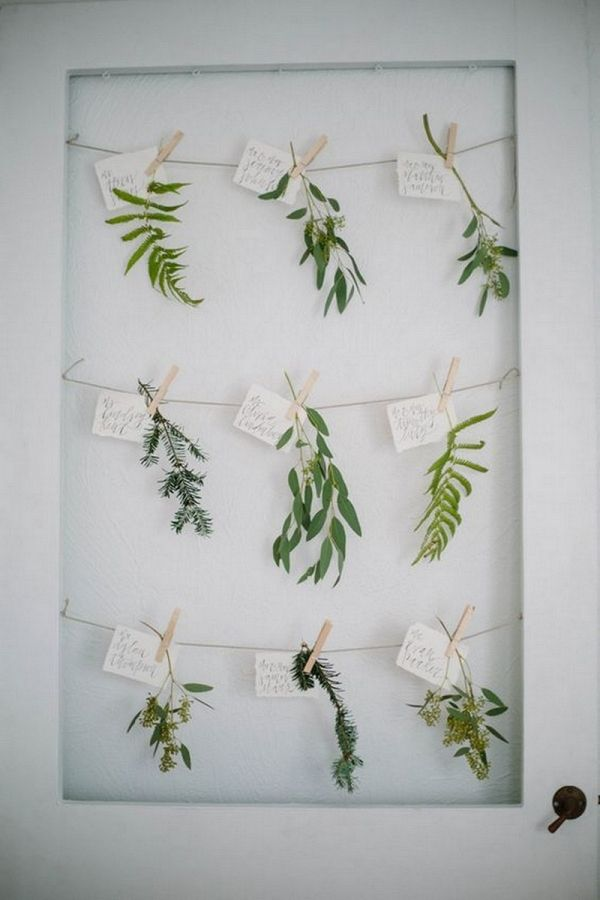 Greenery Wedding Escort Cards | Shannon Kirsten Photography on @knotsvilla via @aislesociety