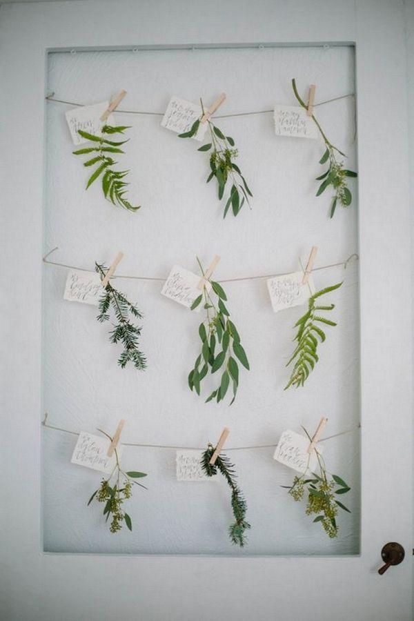 Greenery Wedding Escort Cards   Shannon Kirsten Photography on @knotsvilla via @aislesociety