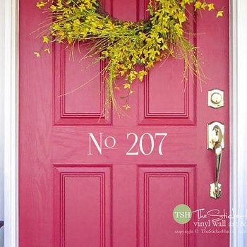 Front Door No Your House Numbers Custom House Number For Your - Custom vinyl decals numbers