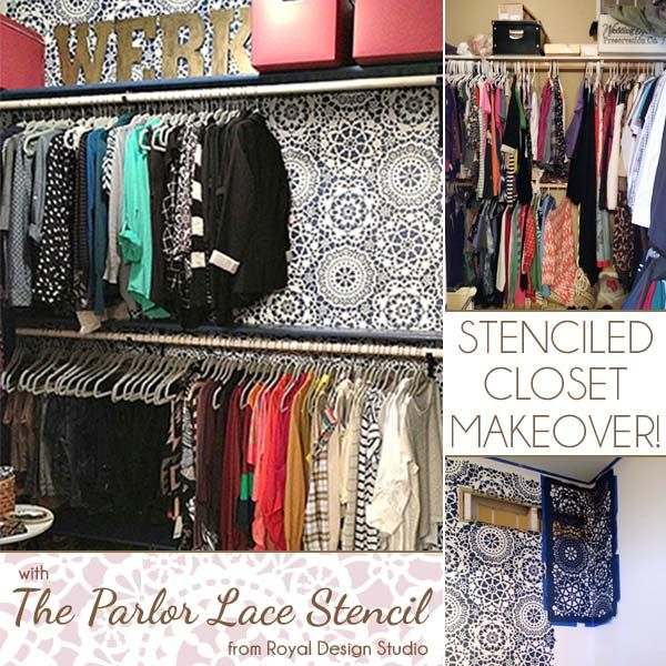 Wardrobe Makeover: Stencil It With Our Parlor Lace Stencil