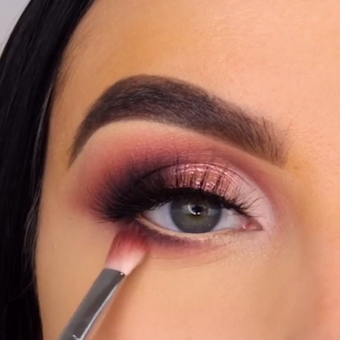 ROSE GOLD EYE MAKEUP TUTORIAL