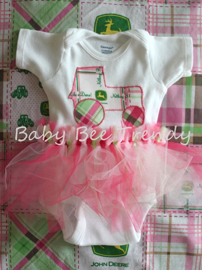 Made to Order  John Deere PINK Tractor Tutu by babybeetrendy, $16.99