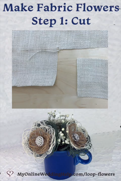 Easy DIY Burlap Fabric Flowers -   17 fabric crafts Videos clothes ideas