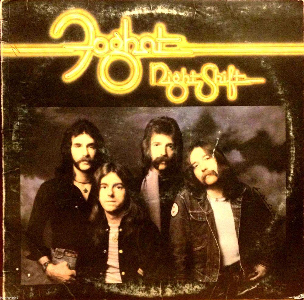 """Foghat Night Shift 12"""" LP Rare Original 1976 Bearsville BR 6962 VG+/Great Vinyl #RocknRoll"""