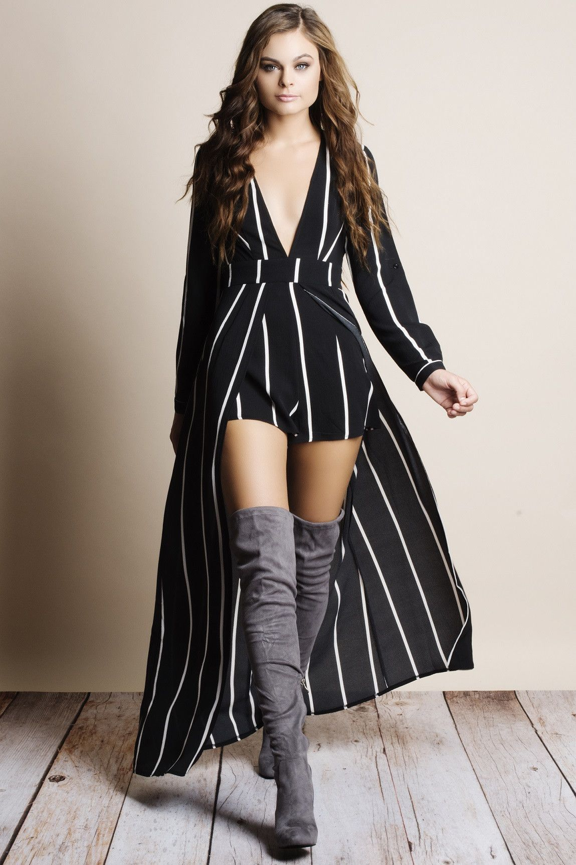 244242c24cd Wanted Poster Striped Maxi Romper in 2019